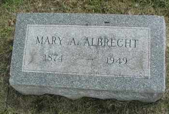 ALBRECHT, MARY A. - DuPage County, Illinois | MARY A. ALBRECHT - Illinois Gravestone Photos