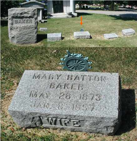 BAKER, MARY HATTON - DuPage County, Illinois | MARY HATTON BAKER - Illinois Gravestone Photos