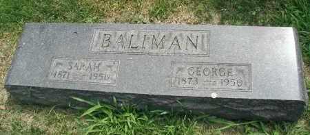BALIMAN, GEORGE - DuPage County, Illinois | GEORGE BALIMAN - Illinois Gravestone Photos