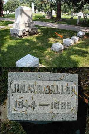 BALLOU, JULIA H. - DuPage County, Illinois | JULIA H. BALLOU - Illinois Gravestone Photos