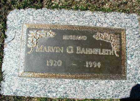 BAHNFLETH, MARVIN G. - DuPage County, Illinois   MARVIN G. BAHNFLETH - Illinois Gravestone Photos