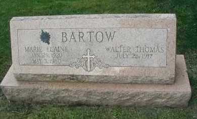 BARTOW, MARIE ELAINE - DuPage County, Illinois | MARIE ELAINE BARTOW - Illinois Gravestone Photos