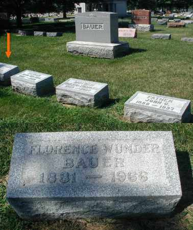 BAUER, FLORENCE - DuPage County, Illinois | FLORENCE BAUER - Illinois Gravestone Photos