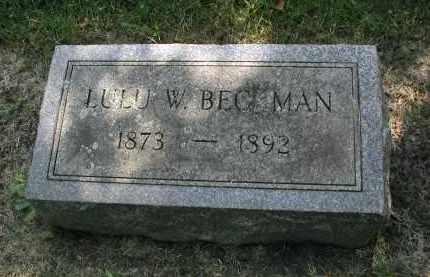 BECKMAN, LULU W. - DuPage County, Illinois | LULU W. BECKMAN - Illinois Gravestone Photos