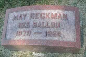BECKMAN, MAY - DuPage County, Illinois | MAY BECKMAN - Illinois Gravestone Photos