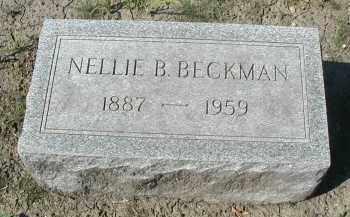 BECKMAN, NELLIE B. - DuPage County, Illinois | NELLIE B. BECKMAN - Illinois Gravestone Photos