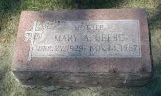 BEEBE, MARY A. - DuPage County, Illinois | MARY A. BEEBE - Illinois Gravestone Photos