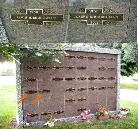 BEIDELMAN, JEANNE S. - DuPage County, Illinois | JEANNE S. BEIDELMAN - Illinois Gravestone Photos