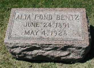 BENTZ, ALTA - DuPage County, Illinois   ALTA BENTZ - Illinois Gravestone Photos
