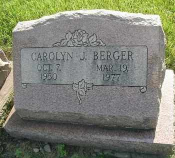 BERGER, CAROLYN J. - DuPage County, Illinois | CAROLYN J. BERGER - Illinois Gravestone Photos