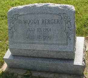 BERGER, D. MOODY - DuPage County, Illinois | D. MOODY BERGER - Illinois Gravestone Photos