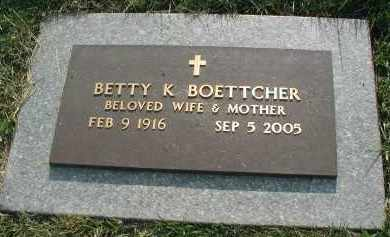 BOETTCHER, BETTY K. - DuPage County, Illinois   BETTY K. BOETTCHER - Illinois Gravestone Photos