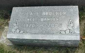 BROEKER, LILA L. - DuPage County, Illinois | LILA L. BROEKER - Illinois Gravestone Photos