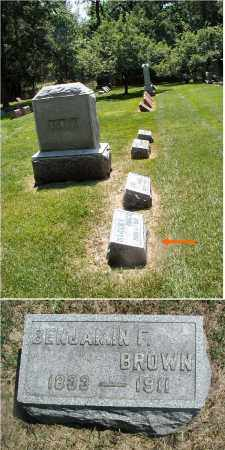 BROWN, BENJAMIN F. - DuPage County, Illinois   BENJAMIN F. BROWN - Illinois Gravestone Photos