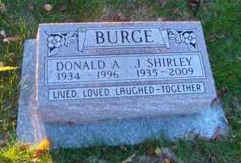 BURGE, J. SHIRLEY - DuPage County, Illinois | J. SHIRLEY BURGE - Illinois Gravestone Photos