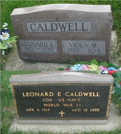 CALDWELL, LEONARD E. - DuPage County, Illinois | LEONARD E. CALDWELL - Illinois Gravestone Photos