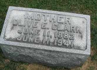 CLARK, OLIVE E. - DuPage County, Illinois | OLIVE E. CLARK - Illinois Gravestone Photos