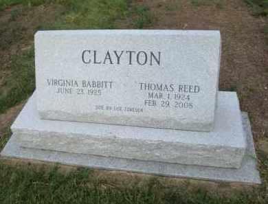 CLAYTON, THOMAS REED - DuPage County, Illinois | THOMAS REED CLAYTON - Illinois Gravestone Photos