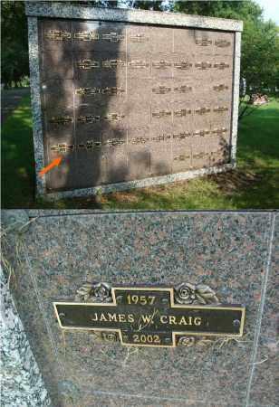 CRAIG, JAMES W. - DuPage County, Illinois   JAMES W. CRAIG - Illinois Gravestone Photos