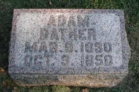 DATHER, ADAM - DuPage County, Illinois   ADAM DATHER - Illinois Gravestone Photos