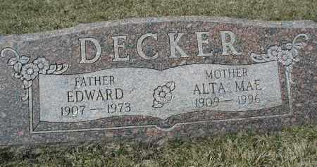DECKER, EDWARD - DuPage County, Illinois | EDWARD DECKER - Illinois Gravestone Photos