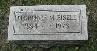EISELE, FLORENCE M. - DuPage County, Illinois   FLORENCE M. EISELE - Illinois Gravestone Photos