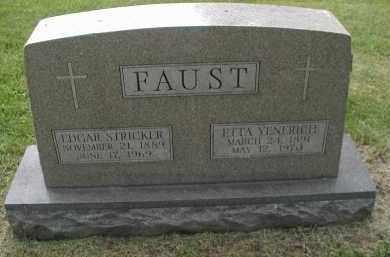 FAUST, ETTA YENERICH - DuPage County, Illinois | ETTA YENERICH FAUST - Illinois Gravestone Photos