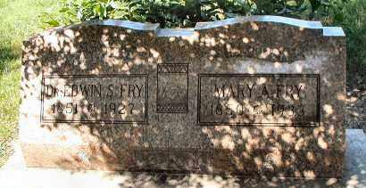 FRY, DR. EDWIN S. - DuPage County, Illinois | DR. EDWIN S. FRY - Illinois Gravestone Photos