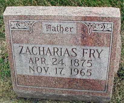 FRY, ZACHARIAS - DuPage County, Illinois | ZACHARIAS FRY - Illinois Gravestone Photos