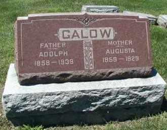 GALOW, AUGUSTA - DuPage County, Illinois | AUGUSTA GALOW - Illinois Gravestone Photos