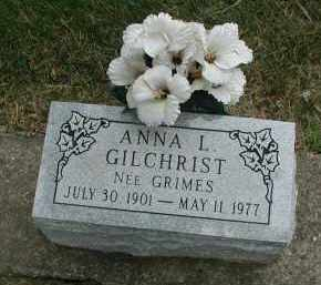 GRIMES GILCHRIST, ANNA L. - DuPage County, Illinois | ANNA L. GRIMES GILCHRIST - Illinois Gravestone Photos