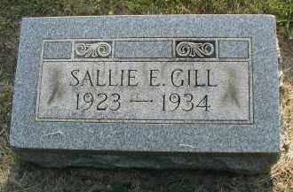 GILL, SALLIE E. - DuPage County, Illinois | SALLIE E. GILL - Illinois Gravestone Photos