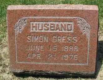GRESS, SIMON - DuPage County, Illinois | SIMON GRESS - Illinois Gravestone Photos