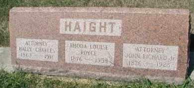 HAIGHT, HALLY CHARLES - DuPage County, Illinois | HALLY CHARLES HAIGHT - Illinois Gravestone Photos