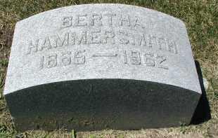 HAMMERSMITH, BERTHA - DuPage County, Illinois   BERTHA HAMMERSMITH - Illinois Gravestone Photos