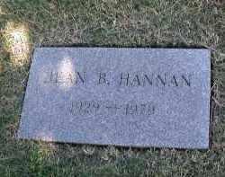 HANNAN, JEAN B. - DuPage County, Illinois | JEAN B. HANNAN - Illinois Gravestone Photos