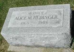 HEDINGER, ALICE M. - DuPage County, Illinois | ALICE M. HEDINGER - Illinois Gravestone Photos