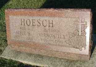 HOESCH, ALYCE W. - DuPage County, Illinois | ALYCE W. HOESCH - Illinois Gravestone Photos