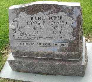 HOSFORD, DONNA F. - DuPage County, Illinois | DONNA F. HOSFORD - Illinois Gravestone Photos