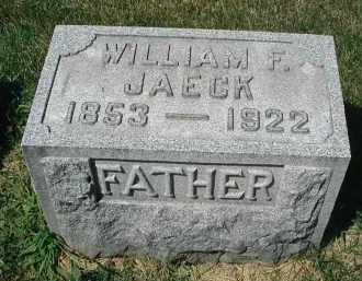 JAECK, WILLIAM F. - DuPage County, Illinois | WILLIAM F. JAECK - Illinois Gravestone Photos