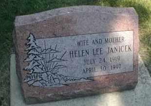 JANICEK, HELEN LEE - DuPage County, Illinois   HELEN LEE JANICEK - Illinois Gravestone Photos