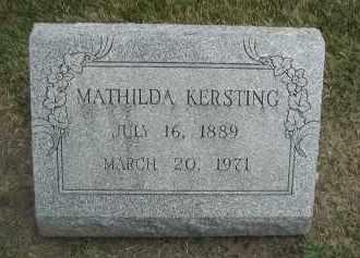 KERSTING, MATHILDA - DuPage County, Illinois | MATHILDA KERSTING - Illinois Gravestone Photos