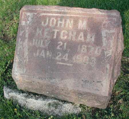 KETCHAM, JOHN M. - DuPage County, Illinois | JOHN M. KETCHAM - Illinois Gravestone Photos
