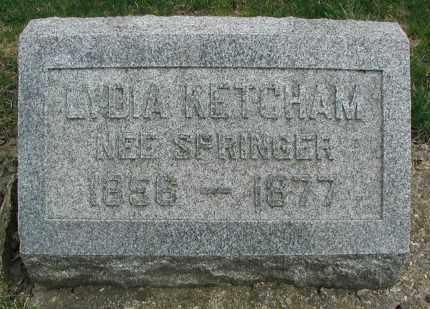KETCHAM, LYDIA - DuPage County, Illinois | LYDIA KETCHAM - Illinois Gravestone Photos