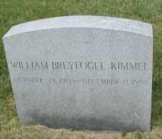 KIMMEL, WILLIAM BREYFOGEL - DuPage County, Illinois | WILLIAM BREYFOGEL KIMMEL - Illinois Gravestone Photos