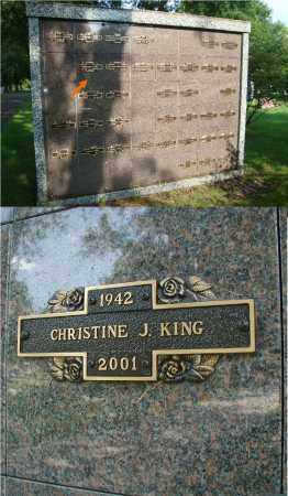 KING, CHRISTINE J. - DuPage County, Illinois | CHRISTINE J. KING - Illinois Gravestone Photos