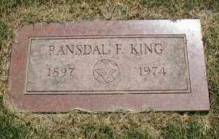 KING, RANSDAL F. - DuPage County, Illinois | RANSDAL F. KING - Illinois Gravestone Photos
