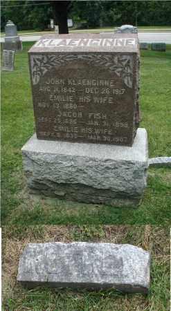 KLAENGINNE, EMILIE - DuPage County, Illinois | EMILIE KLAENGINNE - Illinois Gravestone Photos