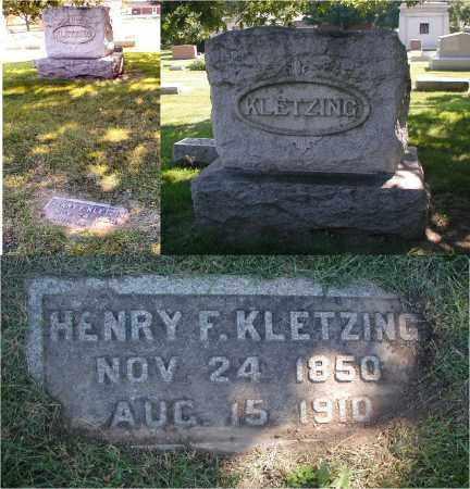KLETZING, HENRY F. - DuPage County, Illinois | HENRY F. KLETZING - Illinois Gravestone Photos