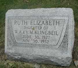 KLINGBEIL, RUTH ELIZABETH - DuPage County, Illinois | RUTH ELIZABETH KLINGBEIL - Illinois Gravestone Photos